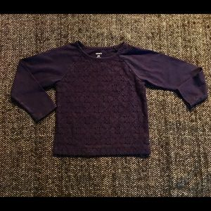Carters lace long sleeved T-shirt size 24m